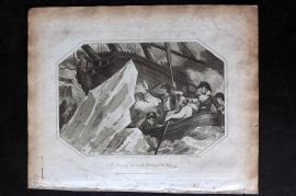Lyttleton 1811 Antique Print. Loss of the Lady Hobart Packet